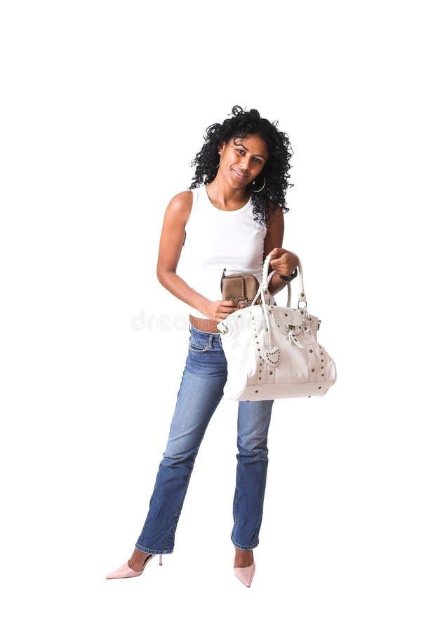 покупка девушки стоковое фото