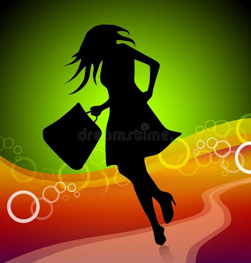 покупка девушки иллюстрация вектора