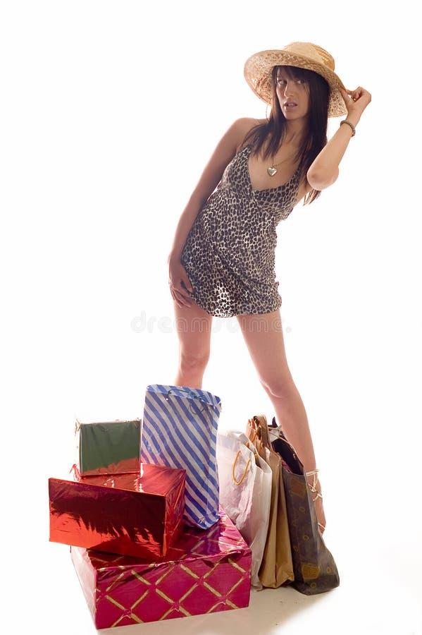 покупка девушки стоковая фотография