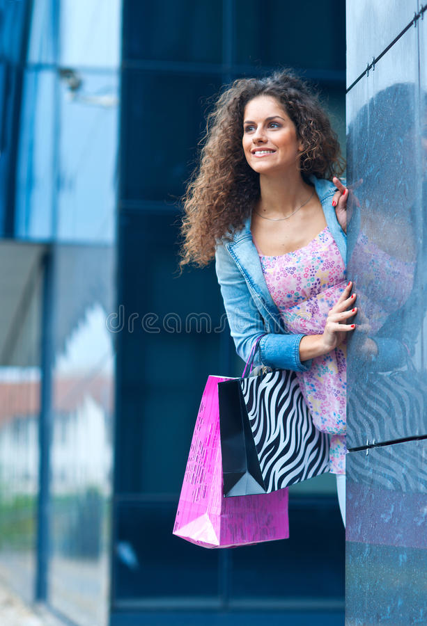 Покупка женщины стоковая фотография