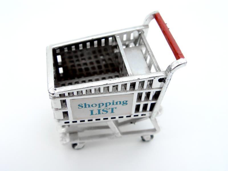 покупка изолированная тележкой стоковые фотографии rf