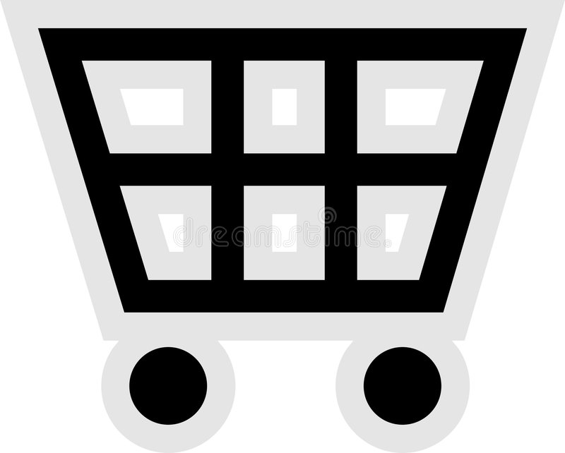 покупка иконы тележки иллюстрация вектора