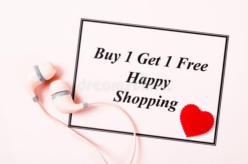 Покупка одно получает одну свободную продажу стоковое изображение rf