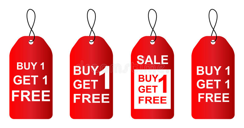 Покупка одно получает одно свободной иллюстрация вектора