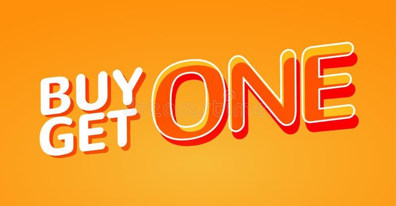Покупка 1 получает 1 свободный плакат продажи Шаблон дизайна знамени для выходить на рынок Продвижение или розница особенного пре бесплатная иллюстрация
