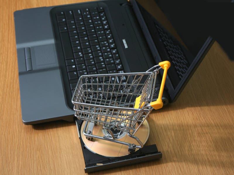 покупка принципиальной схемы он-лайн стоковая фотография rf