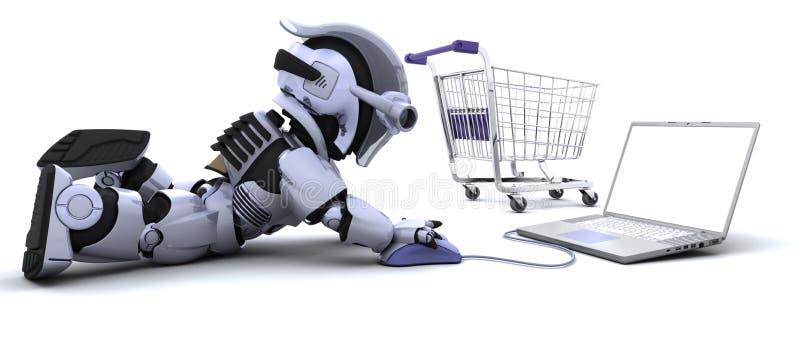 покупка робота компьтер-книжки подарков бесплатная иллюстрация