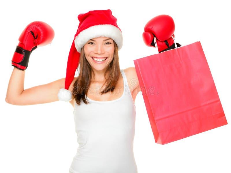 покупка Рождества бокса стоковые фото