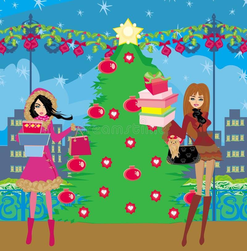 покупка рождества бесплатная иллюстрация