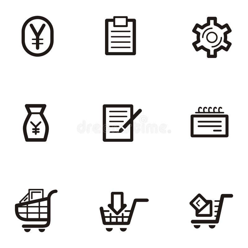 покупка серии иконы простая иллюстрация вектора