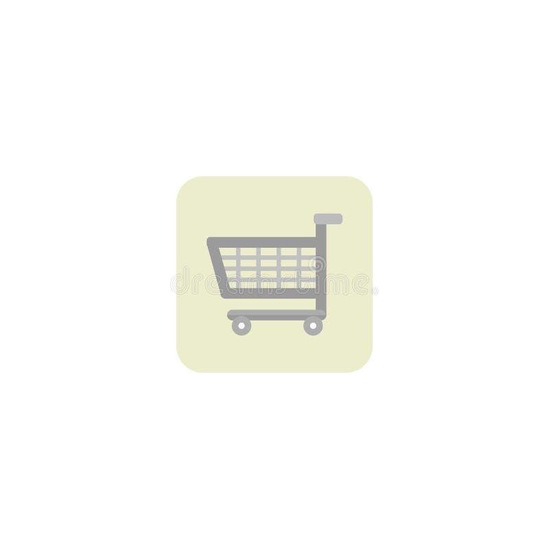 покупка серии иконы тележки красная вагонетка Белая предпосылка также вектор иллюстрации притяжки corel 10 eps бесплатная иллюстрация