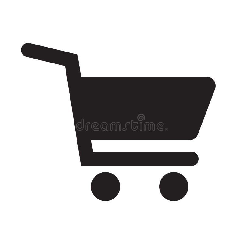 покупка серии иконы тележки красная иллюстрация вектора