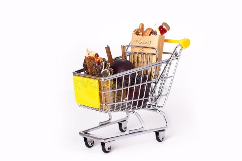 покупка тележки мешков стоковые фото
