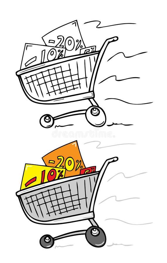 покупка тележки иллюстрация вектора