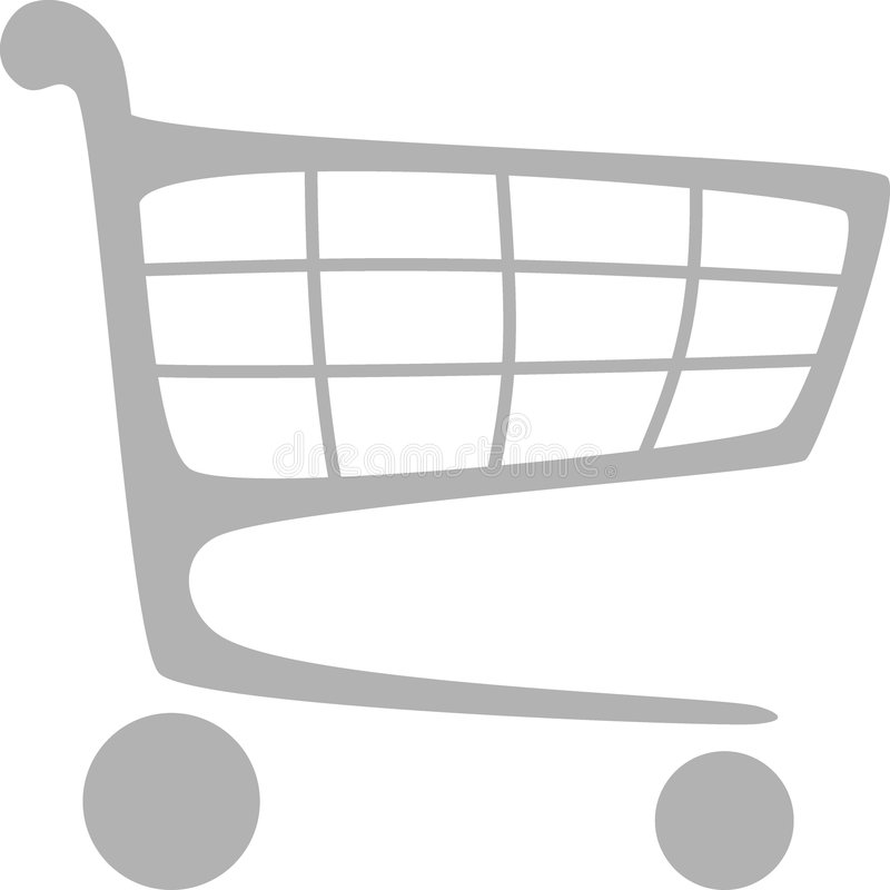 покупка тележки бесплатная иллюстрация