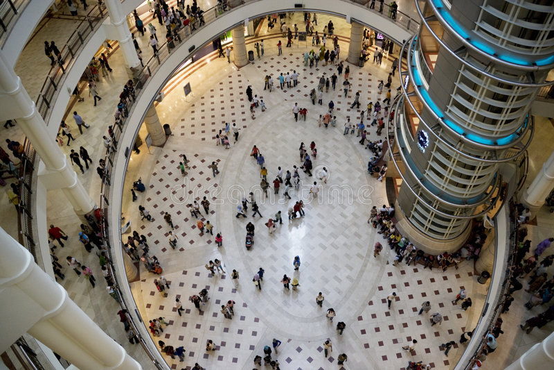 покупка толпы стоковые фотографии rf