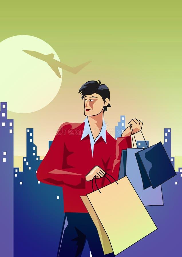 покупка человека иллюстрация штока