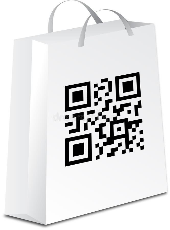 покупка qr Кода мешка бесплатная иллюстрация