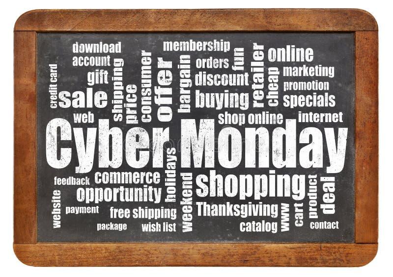 Покупки понедельника кибер стоковое изображение