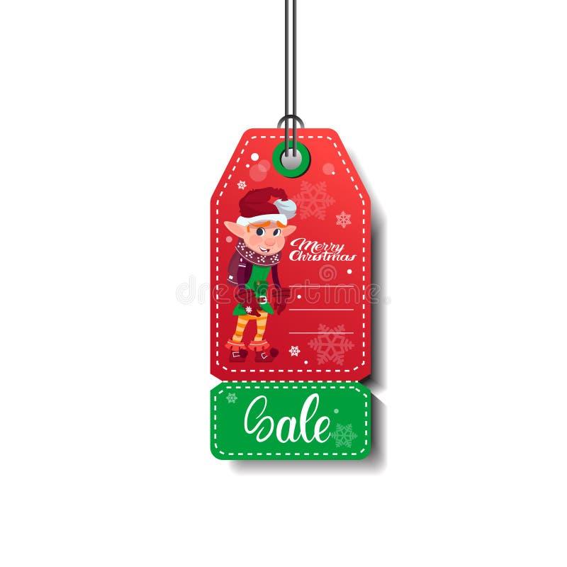 Покупки рождества и Нового Года бирки продажи изолированные на белой предпосылке иллюстрация штока