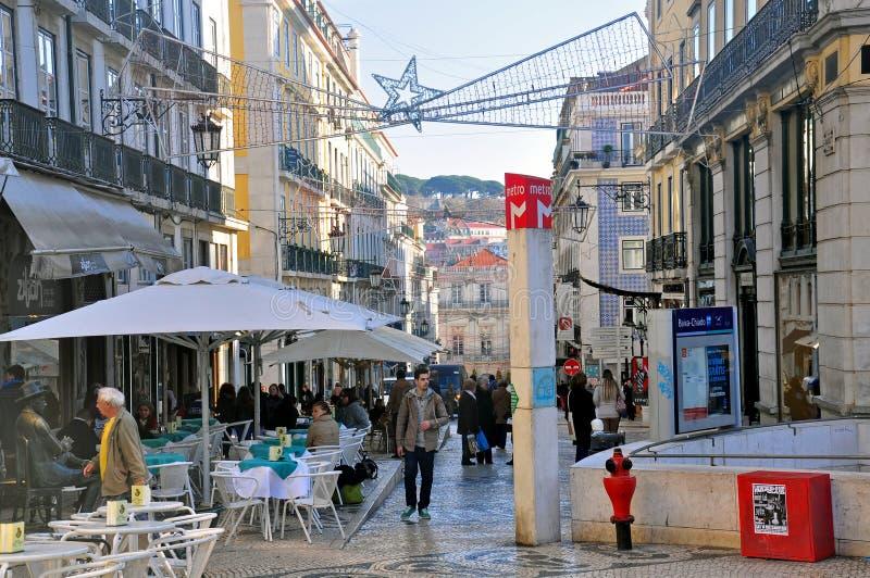 Покупки рождества в Лиссабоне стоковое фото