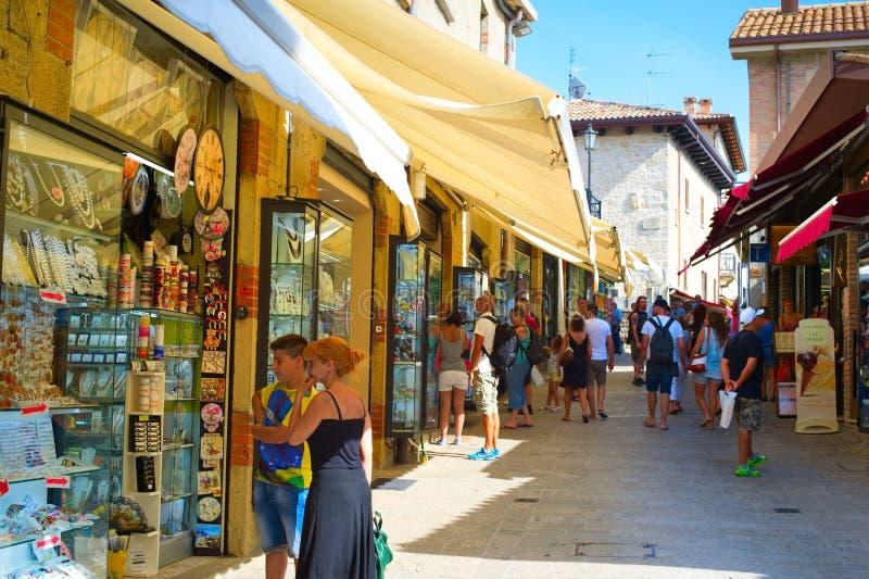Покупки Сан-Марино стоковые изображения rf