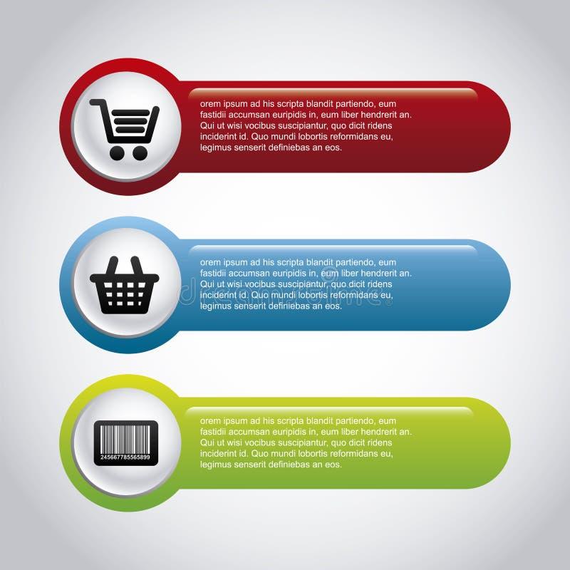 Покупки Infographics иллюстрация штока