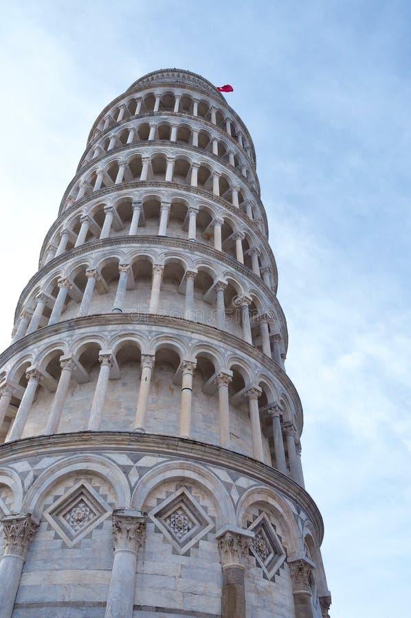 Полагаясь башня Пизы, Италии Апрель 2018 стоковое фото rf