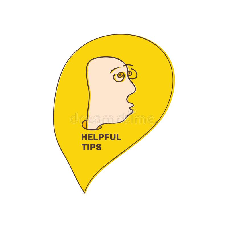 Полезные подсказки Freehand вычерченный человек Иллюстрация вектора с стилем doodle Творческий дизайн для воплощения, сообщения и бесплатная иллюстрация