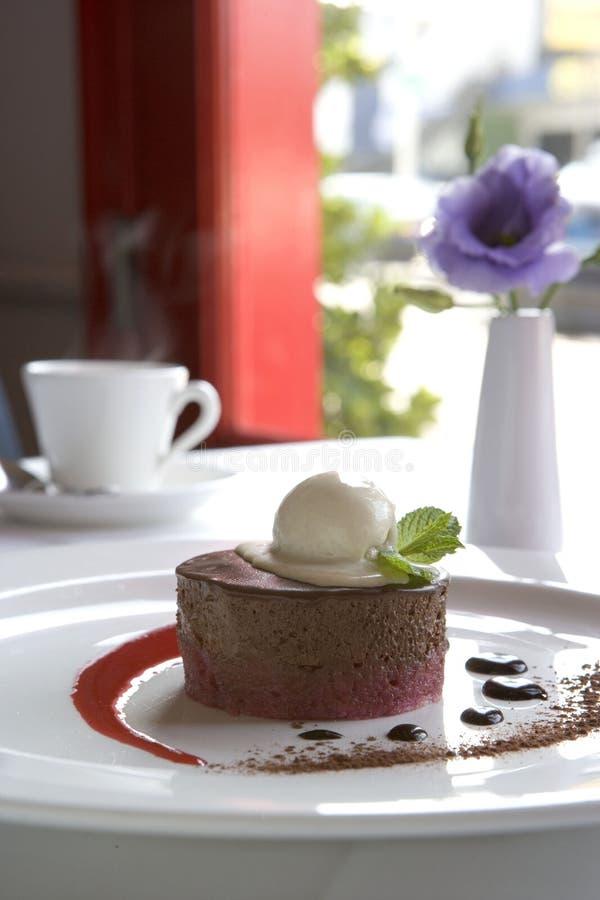 поленика mousse шоколада стоковое фото
