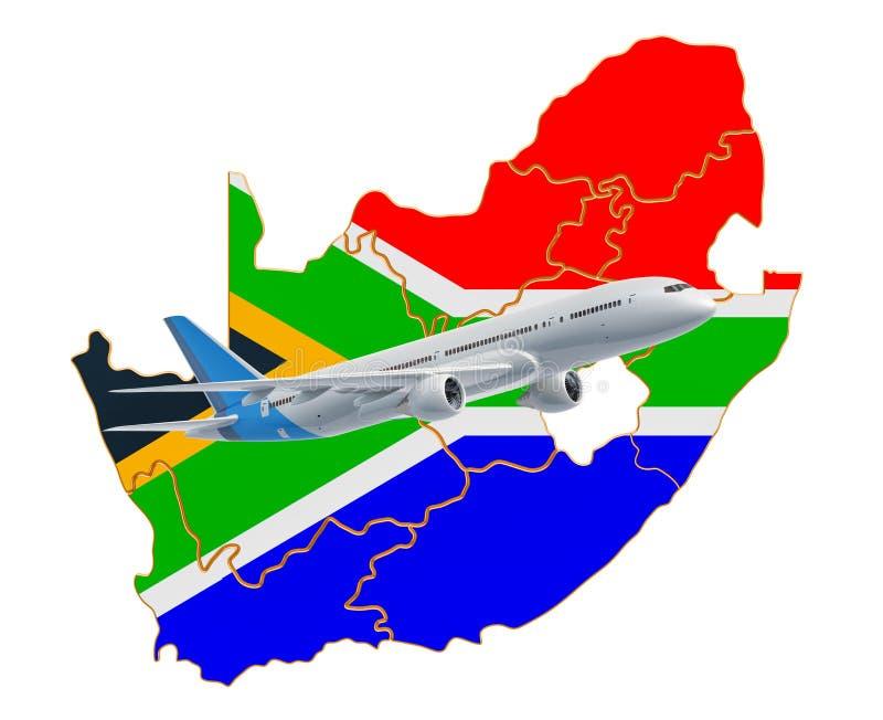 Полеты к Южной Африке, концепция перемещения r бесплатная иллюстрация