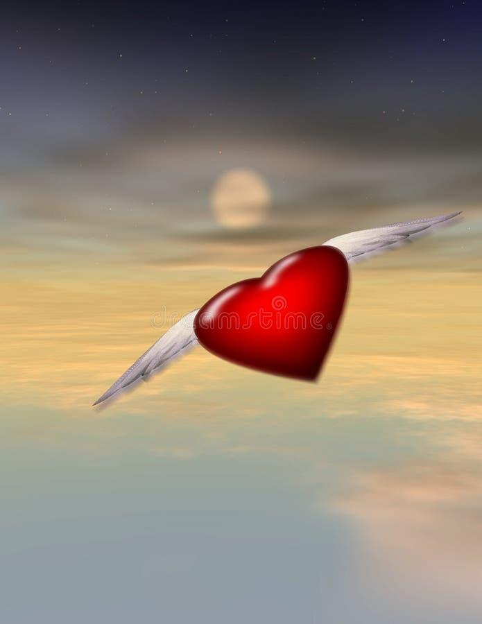 полет сольный иллюстрация вектора