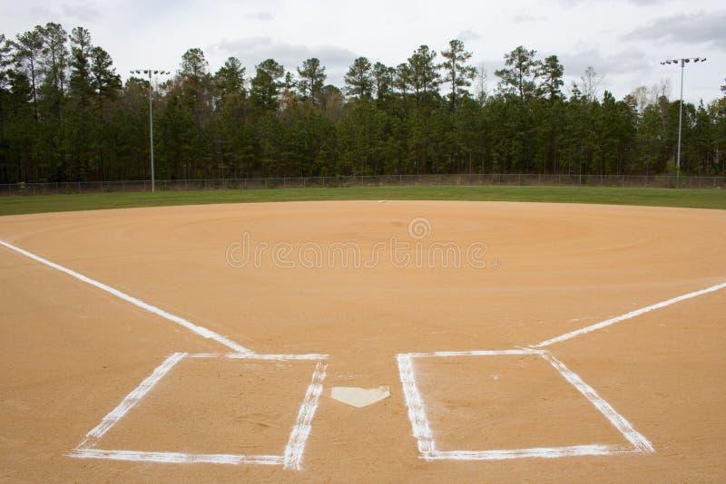 поле бейсбола стоковое изображение