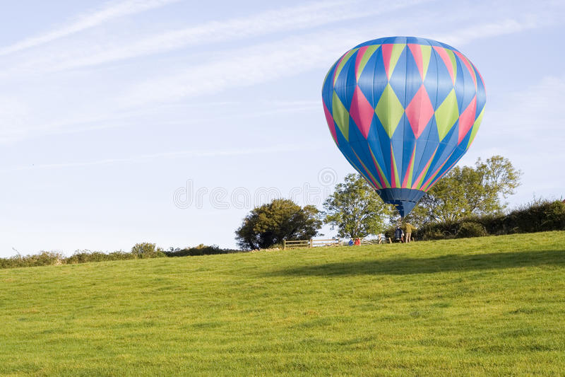 поле воздушного шара стоковое фото