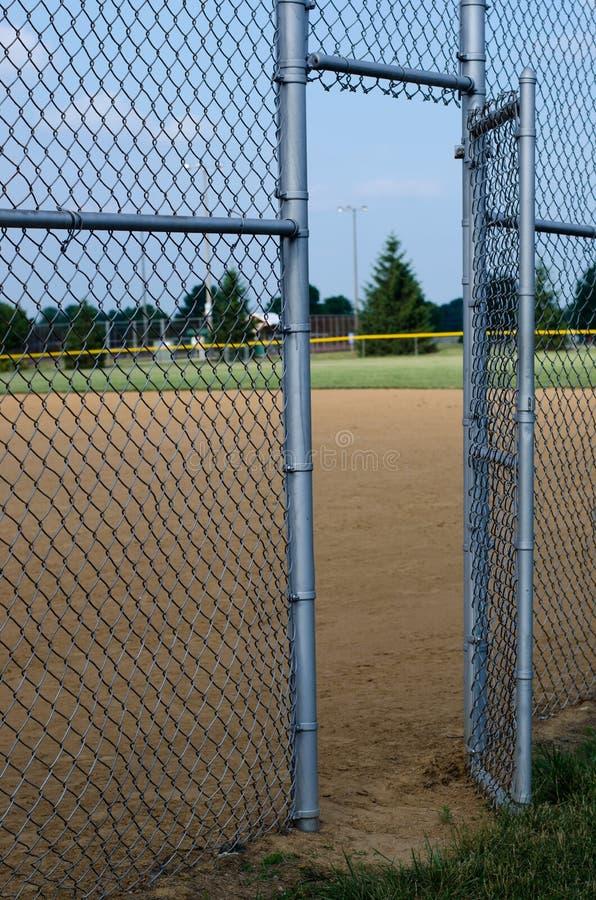 поле входа бейсбола к стоковые фотографии rf