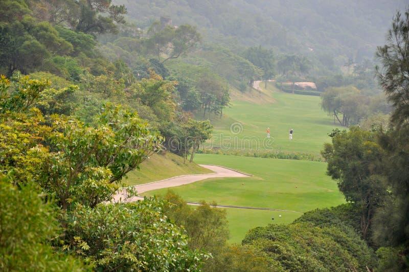 Поле гольфа в долине Стоковое Фото