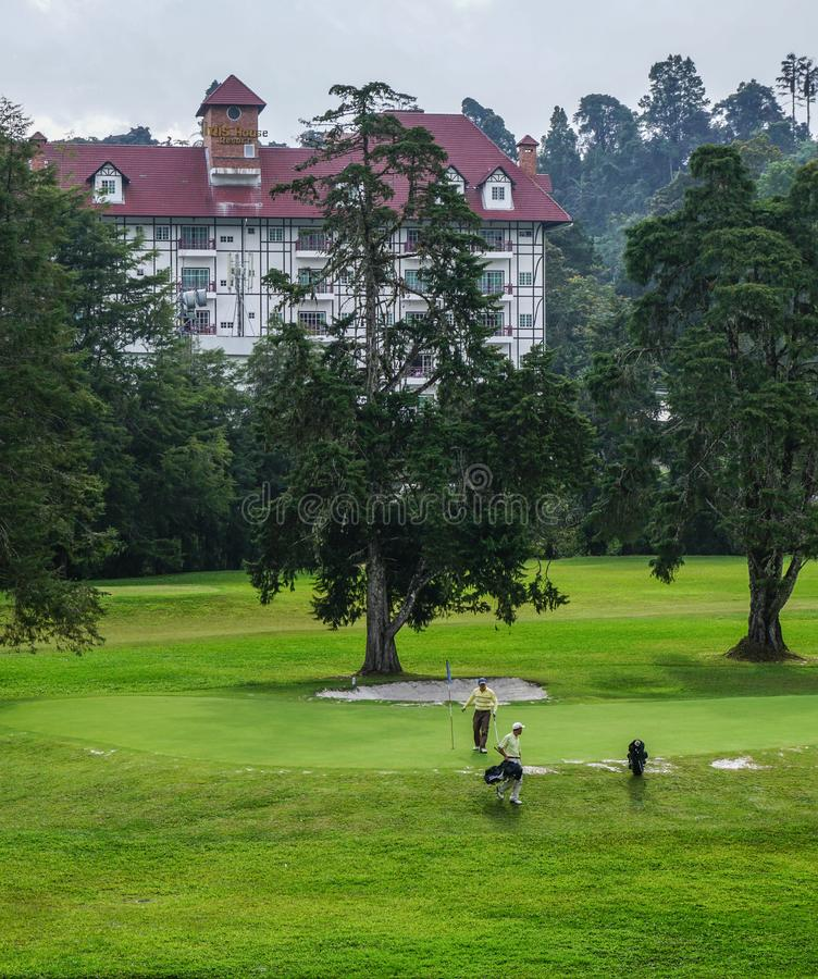 Поле для гольфа на Cameron Highlands стоковые изображения