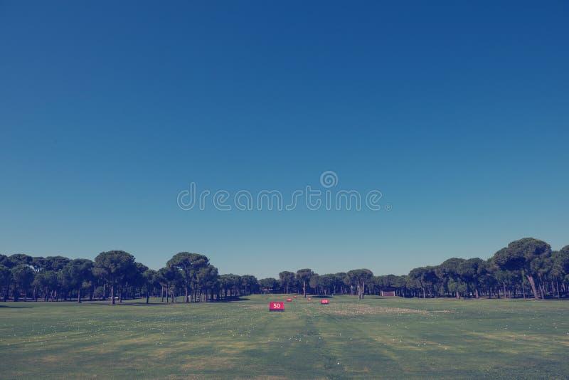 Поле для гольфа тренировки стоковые изображения rf