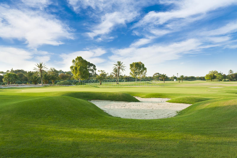 Поле для гольфа стоковые изображения rf