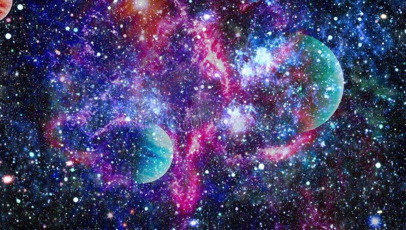 Поле звезды в глубоком космосе много световых год далеко от земли Элементы этого изображения поставленные NASA иллюстрация вектора