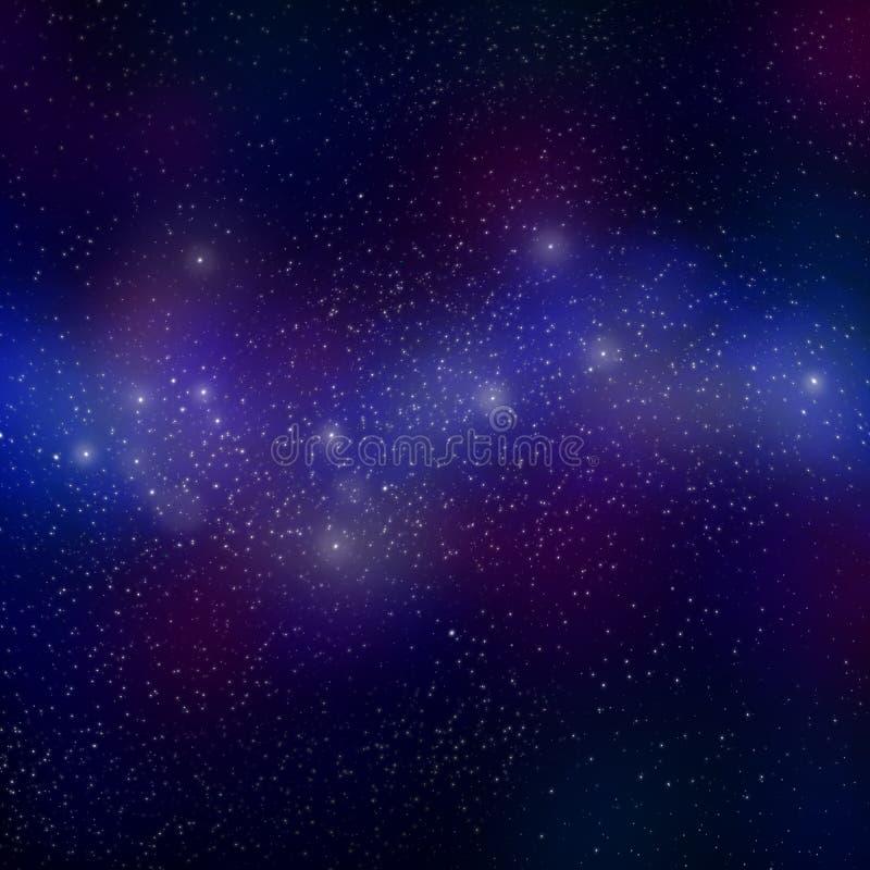 Поле звезды в межзвёздном облаке межзвездных газов стоковая фотография rf