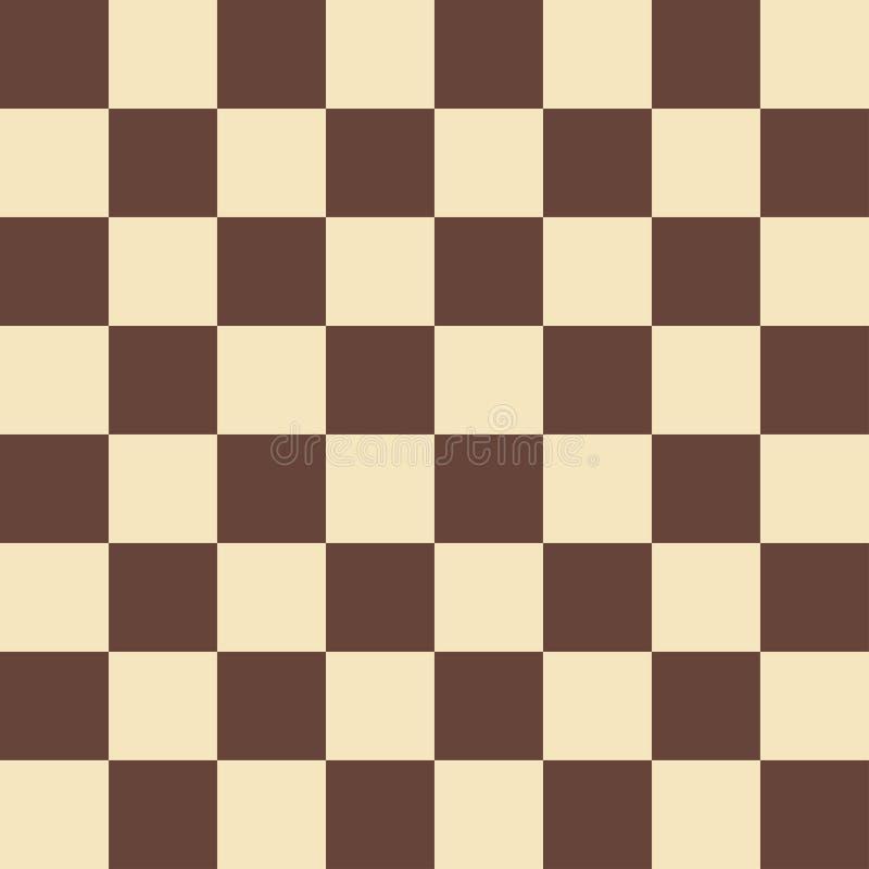 Поле шахмат вектора в бежевых и коричневых цветах E иллюстрация вектора