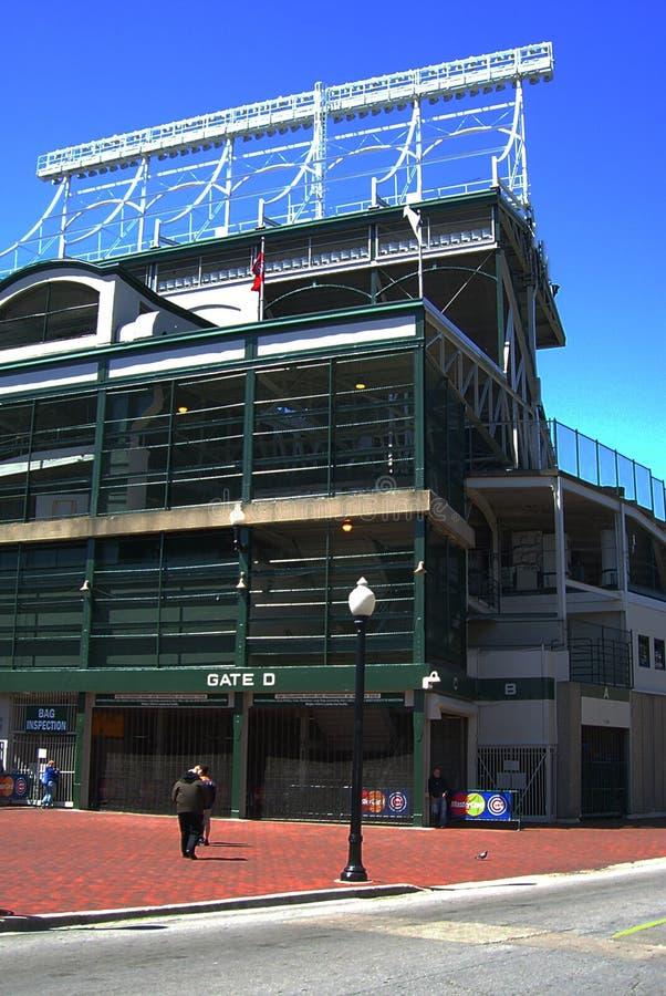 Поле Wrigley - Чикаго Cubs стоковое фото