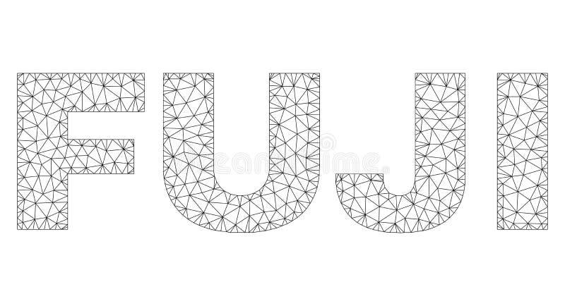 Полигональная бирка текста ФУДЗИ сетки иллюстрация штока