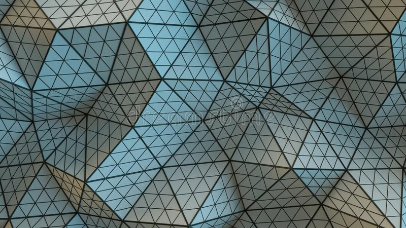 Полигональная геометрическая серая поверхность 3D представляет иллюстрация штока