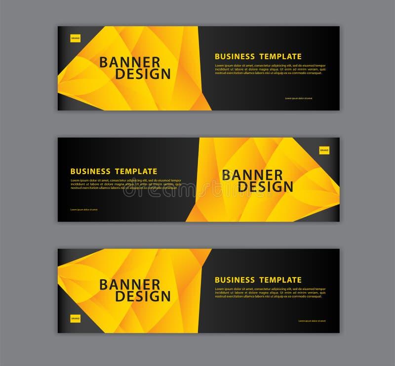 Полигональная иллюстрация вектора шаблона дизайна знамени, геометрическая, абстрактная предпосылка, текстура, план рекламы реклам иллюстрация вектора