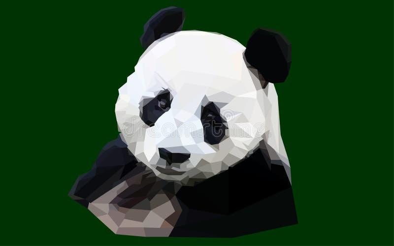 Полигональная панда на зеленой предпосылке стоковые фотографии rf