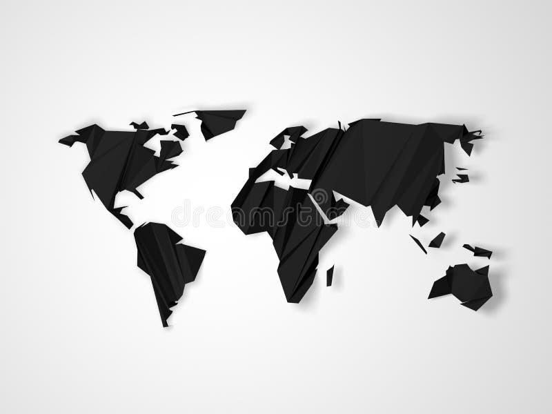 Полигональная темнота - серая карта мира бесплатная иллюстрация