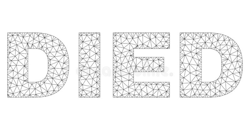 Полигональная 2D, который УМЕРЛИ бирка текста бесплатная иллюстрация