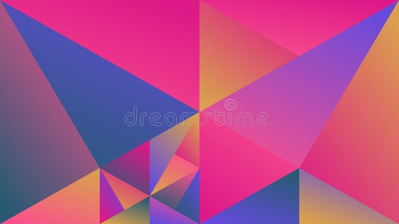 Полигональная multicolor геометрическая предпосылка hd треугольника градиента бесплатная иллюстрация